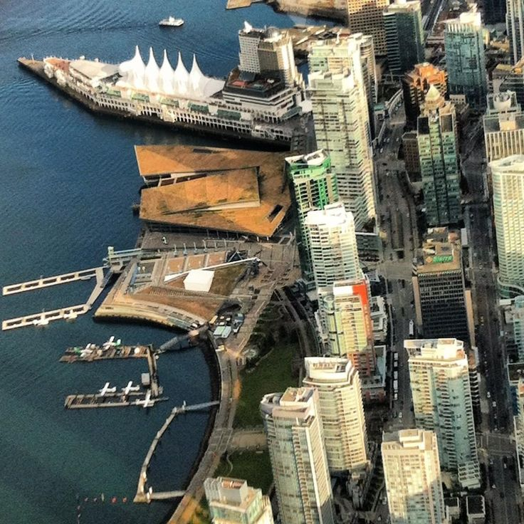 Aerial view of Coal Harbour by Leah_Holiove