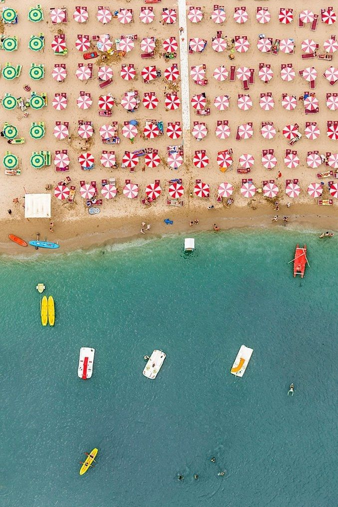 stunning aerioal photos of italian beach resort by Bernhard Lang #photography #stunning #photos #art #italy #travel #inspiration