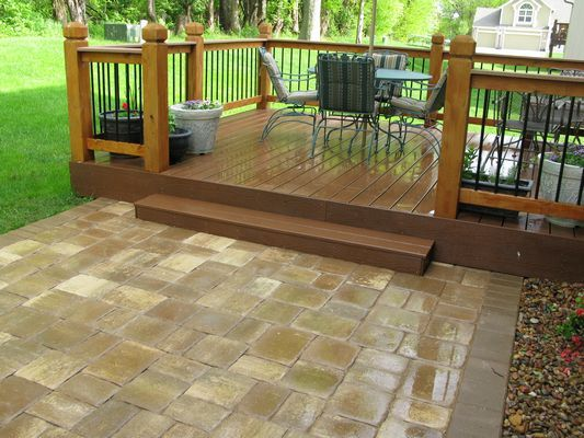Deck And Stone Patio Combination 1000 Images About On
