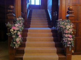 Stairway Dressed With Swags