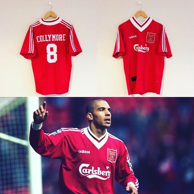 Stan the man. Vintage Adidas Liverpool home shirt 1995/96 collymore 8 on the back - tap the link in our bio to take a look! #lfc #liverpool #liverpoolfc #stan #stancollymore #football #footballshirt #footballplayer #retro #retroshirt #retrofootball #vintage #vintagefootball #vintageadidas #vintageliverpool #soccer #soccerplayer #soccerjersey #premiership #premierleague #adidas #90s  #90svintage #90sfootball