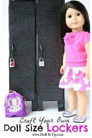 School Locker | 39 American Girl Doll DIYs That Won't Break The Bank
