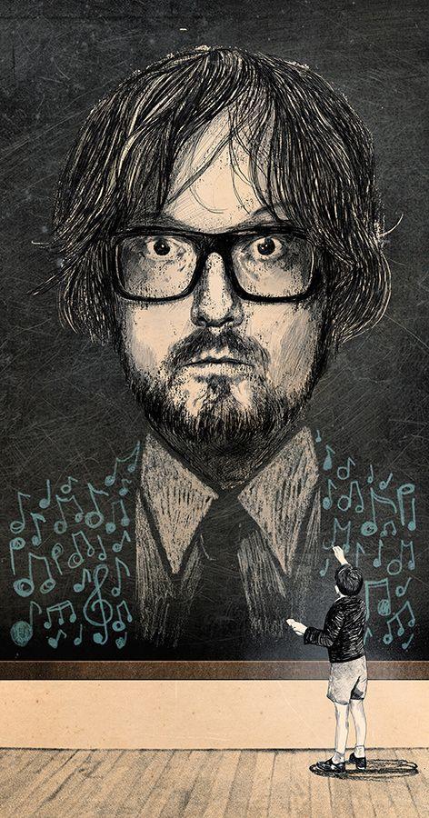 Jarvis Cocker - Peter Strain Illustration