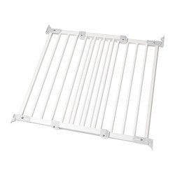 "baby-proofing--Ikea PATRULL FAST safety gate, white Min. width: 25 5/8 "" Max. width: 41 7/8 "" Height: 29 1/2 "" Min. width: 65.0 cm Max. width: 106.5 cm Height: 75 cm"