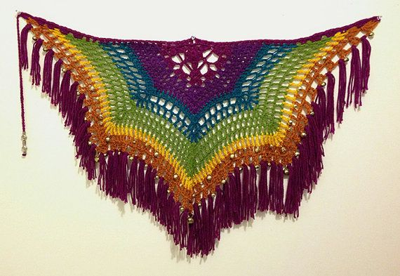 Rainbow Belly Dance Hip Scarf by Catlings on Etsy, $30.00