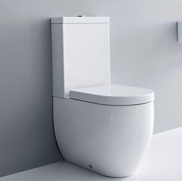321102 Lavabo  Lavabo Flo Gulvstående toalett 600x360 mm. m/myktlukkende sete/lokk