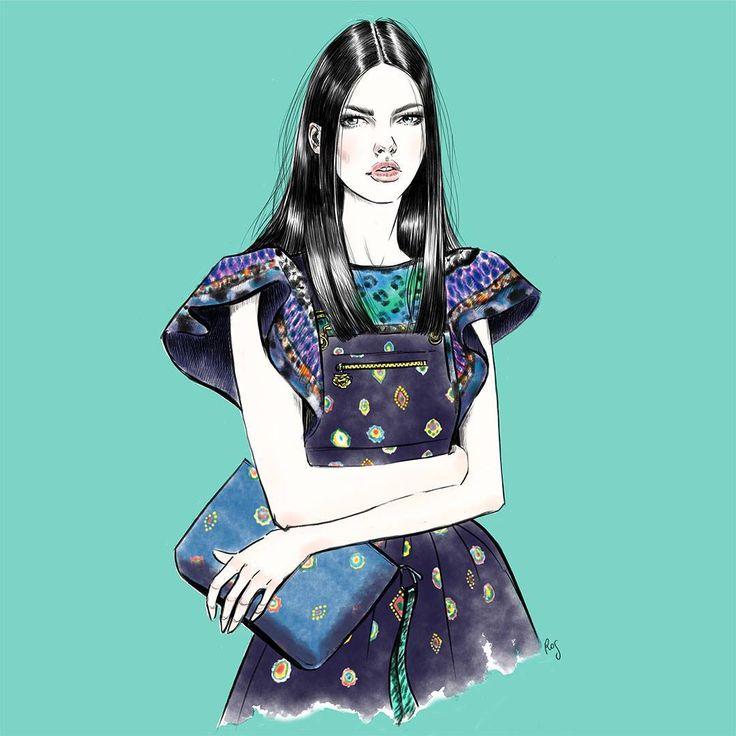 Illustration.Files: KENZO x H&M Fashion Illustration by Rosalba Cafforio