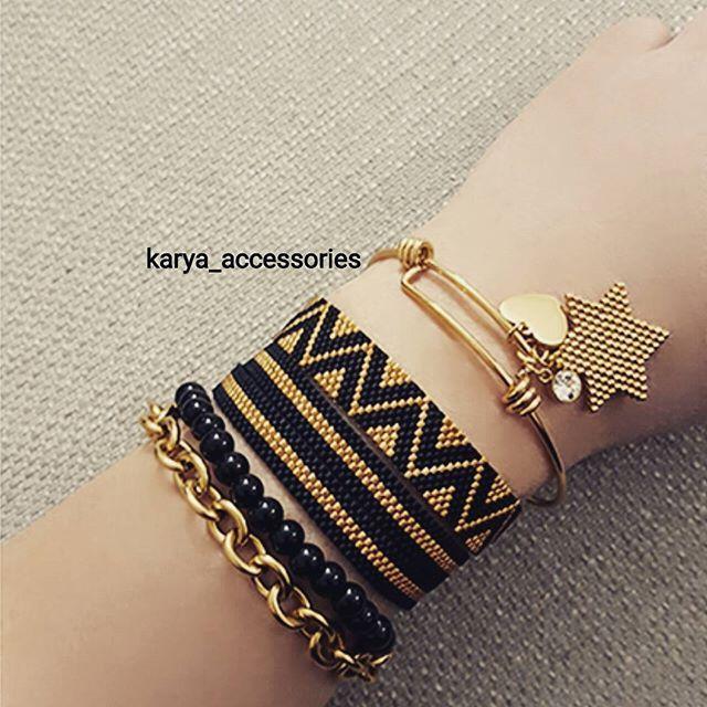 Siyah-gold güzellikler... #miyuki #miyukibileklik #miyukiboncuk #miyukikolye #miyukiküpe #takı #bileklik #trend #tasarım #özeltasarım #sipariş #siparişalınır #hediyelik #hediyelikeşya #aksesuar #altın #siyah #beyaz #gri #tagsforlikes #igers #accessories #beauty #style #fashion