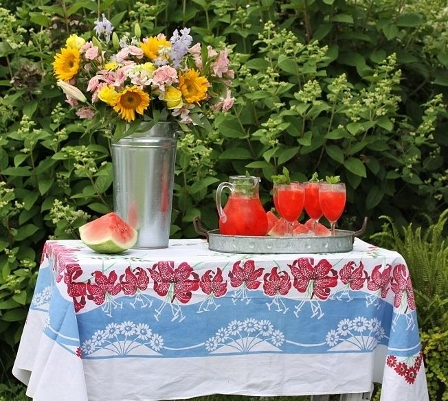 Rattlebridge Farm: Garden Week Wrap-Up with Minty Watermelon Lemonade recipe!