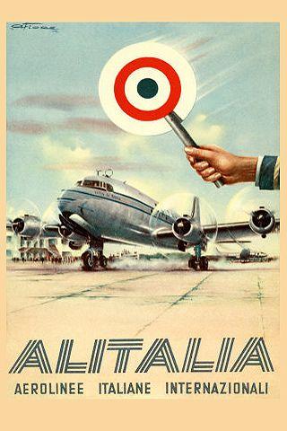 Alitalia Vintage Poster