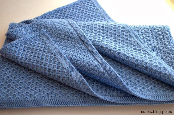 Оба пледа связаны из полушерсти 32/2 в 4 нити на машине прессовым переплением. Пледы двухсторонние - плетение позволяет использовать плед с обеих сторон.