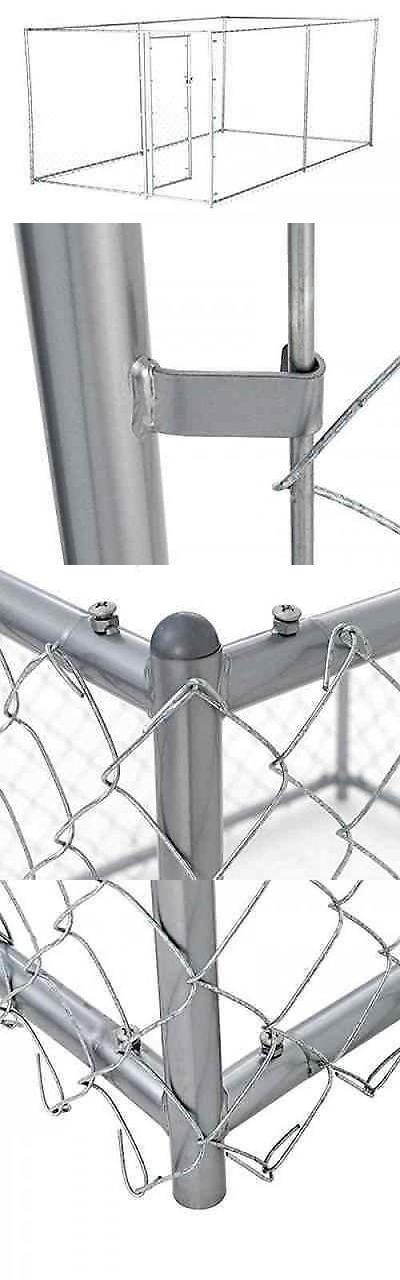 Fences and Exercise Pens 20748: Chain Link Dog Kennel Outdoor Fence Backyard Pet Cage Pen Run Galvanized -> BUY IT NOW ONLY: $268.08 on eBay!