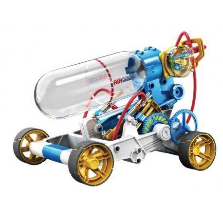 Masinuta actionata cu aer comprimat. Modelul acesta este prima jucarie comerciala ce functioneaza cu aer comprimat. Sasiu si corp usor realizat din ABS plastic. Se ansambleaza usor. Recomandata copiilor peste 10 ani. Masina poate atinge 15 km/h pe o distanta de 50-80m. Dupa oprire, pentru actionare e necesar sa refaceti presiunea si iaproximativ un minut masina va fi gata pentru o noua cursa. Cum functioneaza? Aerul comprimat este acumulat in compartimentul superioar transparent, astfel...