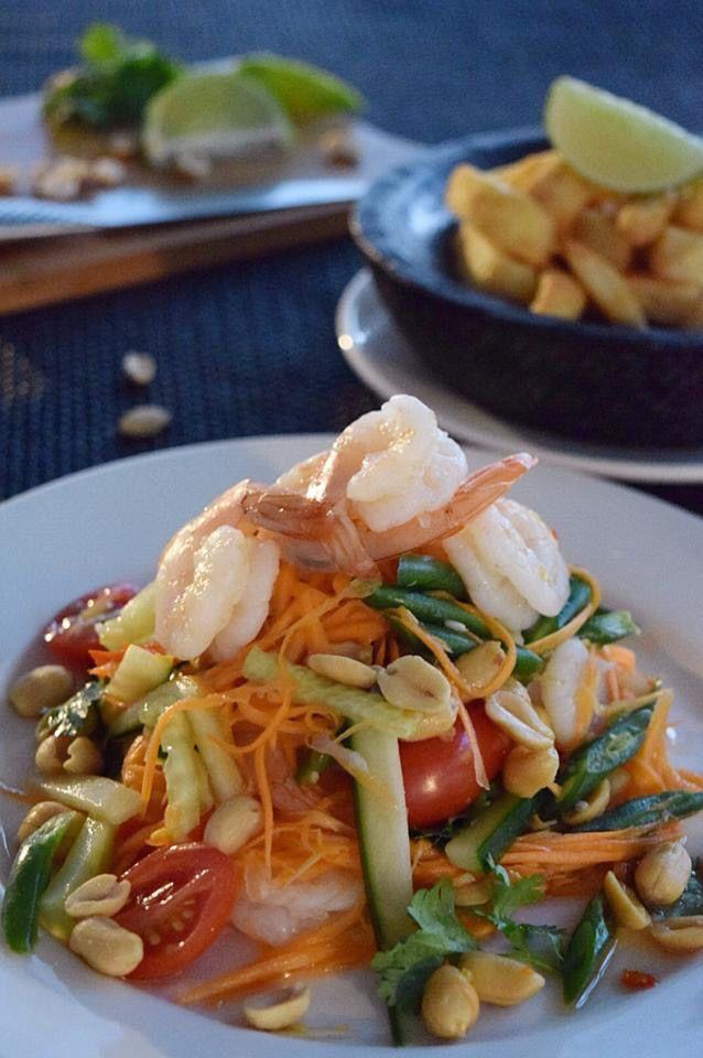 Prawns and carrot salad