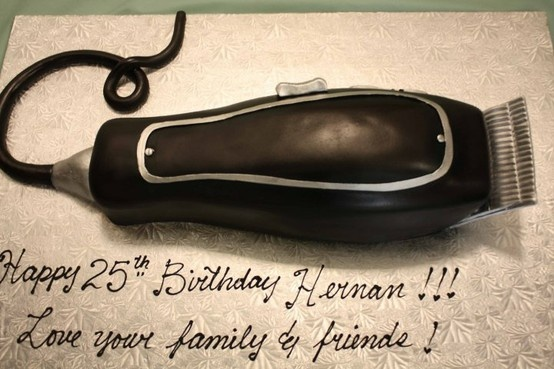 Hair Clipper Birthday Cake Birthday Cakes Birthday