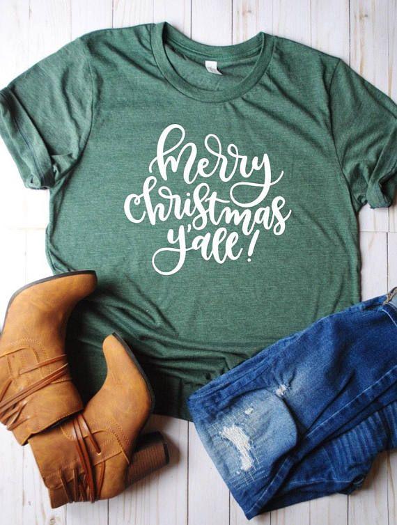 Merry christmas yall/merry christmas/xmas shirt/christmas shirt/christmas gift/xmas gift/gifts for christmas/holidays/winter/gift