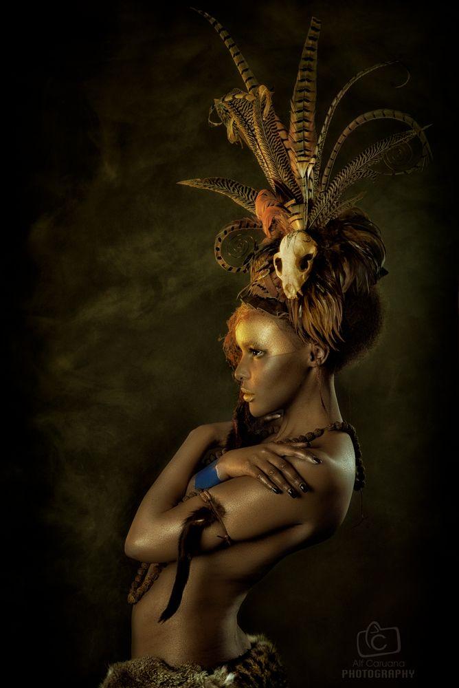 Tribal Portrait IV by Genevieve-Amelia.deviantart.com on @deviantART