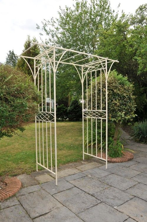 Tetten Hall Rose or Entrance Canopy - Rose Arches, Pergolas & Arbours - Architectural Garden Pavillion & Structures - Garden & Outdoor Living - Catalogue  | Black Country Metal Works