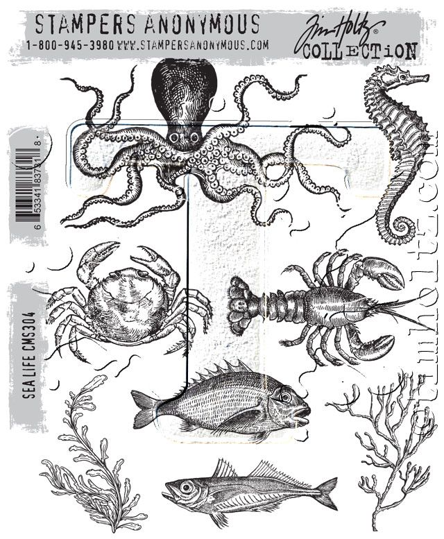 2017 sneak peek – stampers anonymous…   Tim Holtz  BEACH AND SEA!  NICE ONE!!