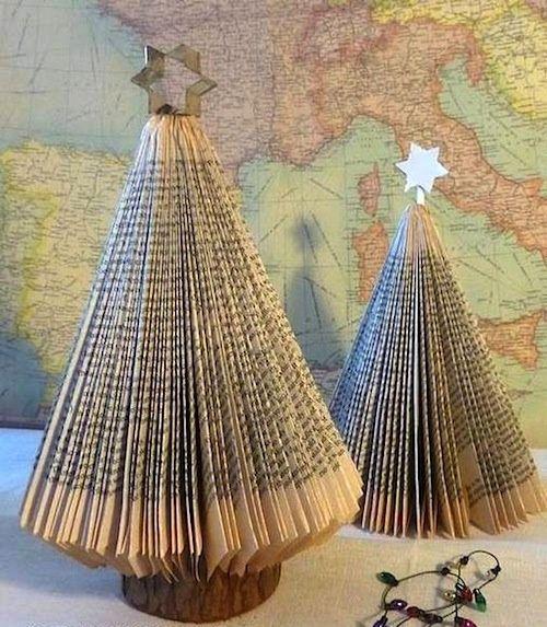 Voor de Boekliefhebbers: Maak een Kerstboom van een Boek. - Plazilla.com