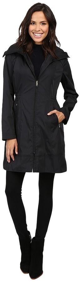 Cole Haan Double Faced Contrast Color Packable Jacket Women's Coat