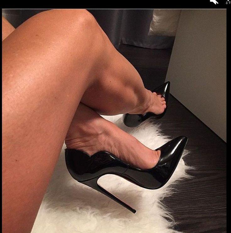 Sexy stiletto ankle strap sandals drag queen men's heels crossdresser black plus