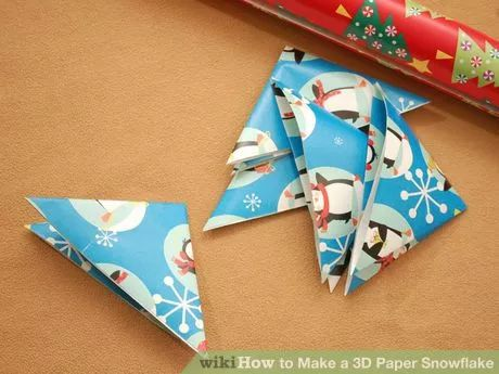 Image titled Make a 3D Paper Snowflake Step 2