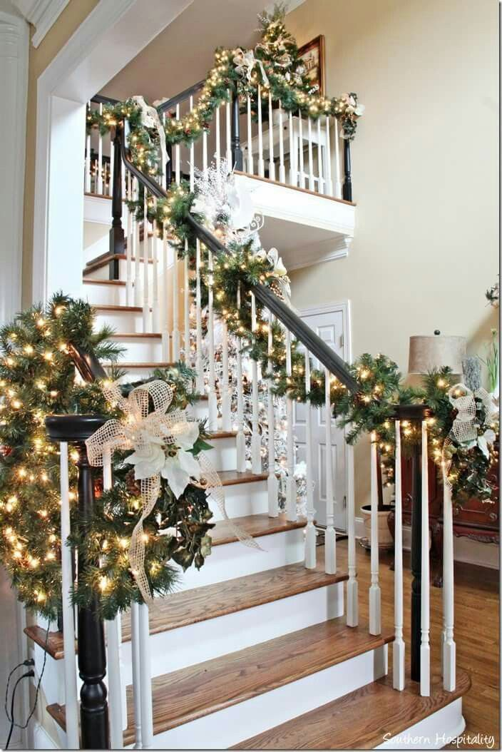 wooden steps color banister colorgarland on stairsetc