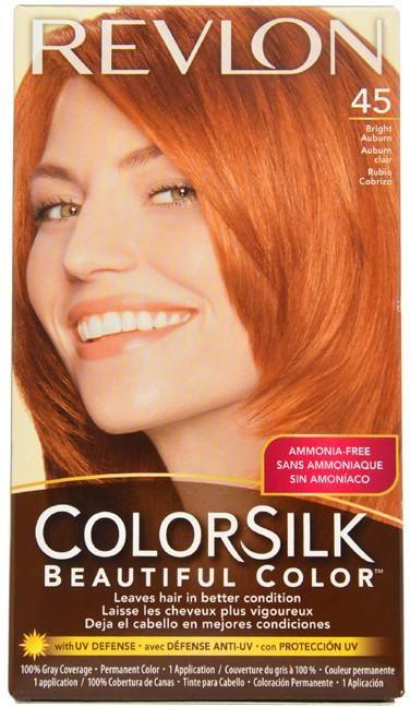 Unisex Revlon colorsilk Beautiful Color #45 Bright Auburn Hair Color