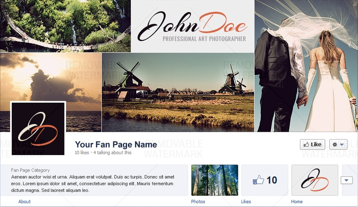 Facebook Cover for Photography Site