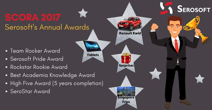 Serosofters! Get ready to win exciting prizes at Serosoft Ceremony Of Recognition & Awards.