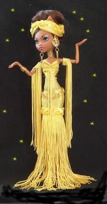 Custom Yellow Gorgeous Spooky Dress Fits Monster High Fashion Clothes Outfiit   eBay
