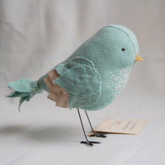 cute birdBaby Blue, Bluebirds, Birds Of Paradis, Little Birds, Felt Birds, Fabrics Birds, Blue Birds, Cake Toppers, Birds Crafts