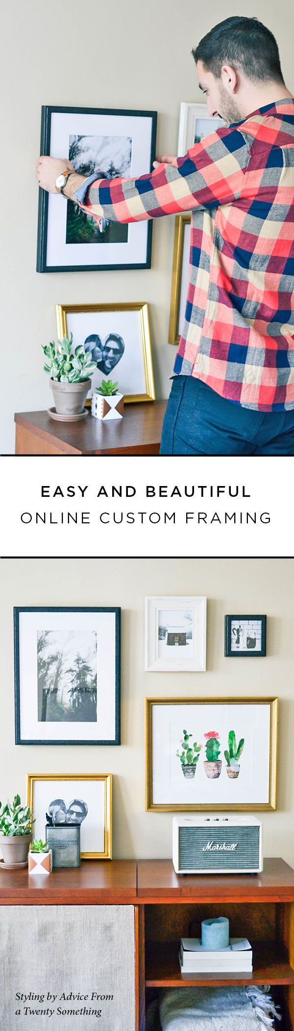 Spruce up your space by custom framing your favorite art prints and photos. @Framebridge makes it simple and affordable, and all shipping is free! Get custom frames delivered direct to your door, ready to hang!