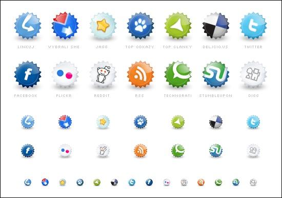 ícones sociais gratuitos.
