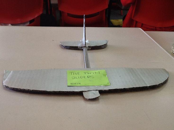 how to make a cardboard airplane glider