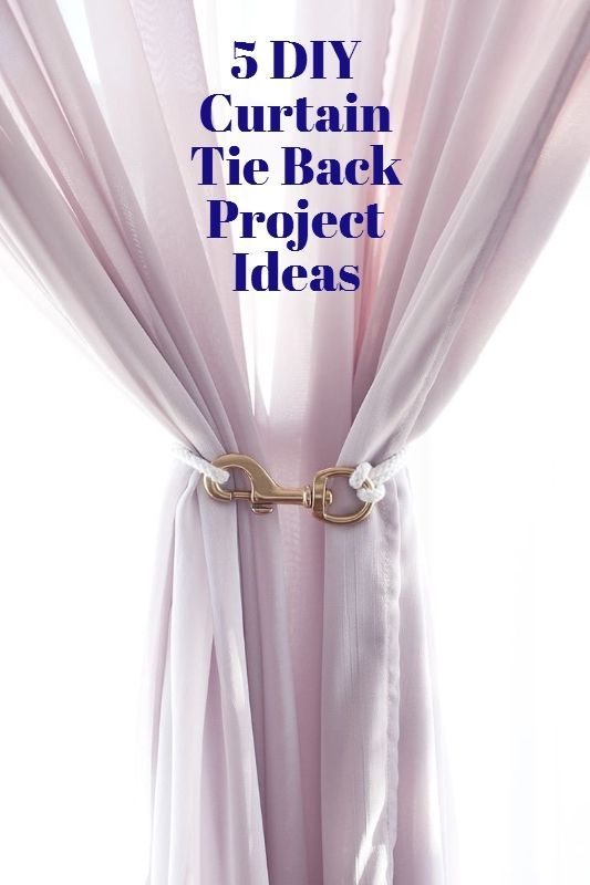 how to make curtain ties for gazebo curtains