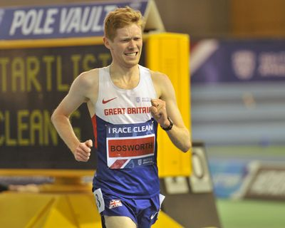 Tom Bosworth - British Indoor Champion, Achieved New National Record Men's 3000 Meters Race Walk    Copyright B&O Press Photo.