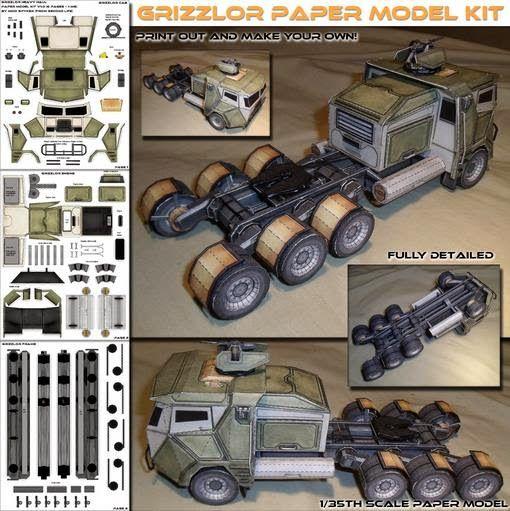 PAPERMAU: Grizzlor Heavy Hauler Paper Model - by Spyker Enterprise