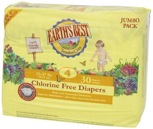 Earth's Best Organic Chlorine Free Size 4 Diapers, 120 Count | Multi City Health  List Price: $79.99 Discount: $35.00 Sale Price: $44.99