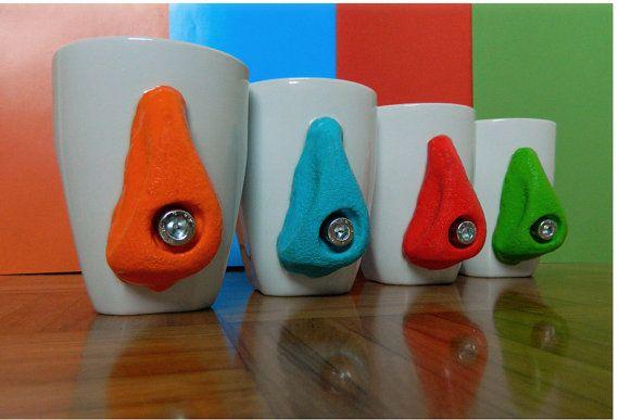 Rock Climbing Ceramic Mug Rock Climbing Cup Mug with by Cabresia