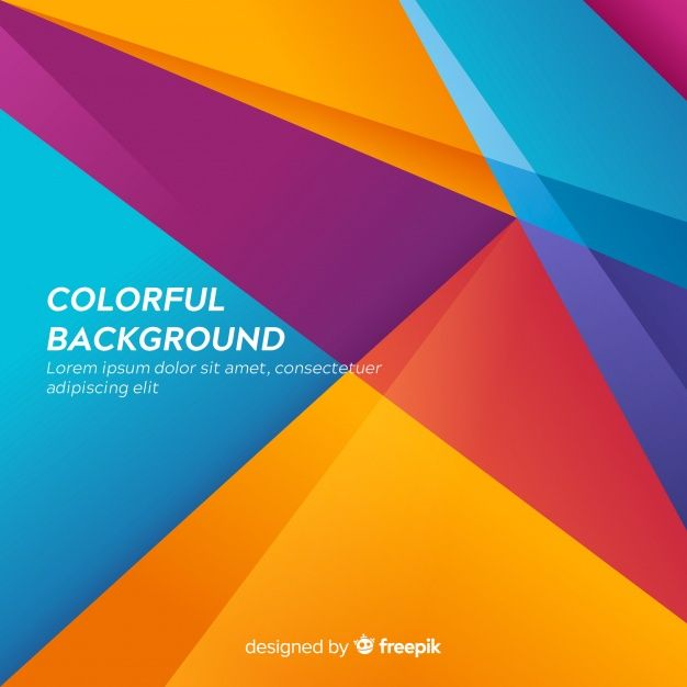 Download Colorful Modern Abstract Background With Shapes For Free