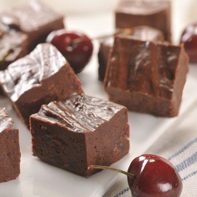 Dark Chocolate Cherry Fudge (Easy; 24 servings)