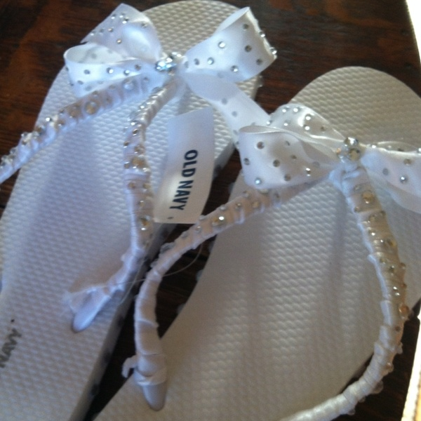 DIY Flip flops for the bride to be:)