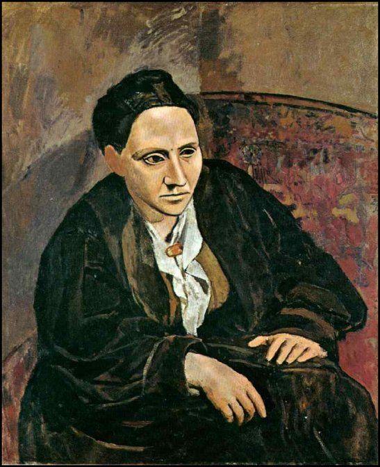 portrait of Gertrude Stein - Picasso o artista demorou 15 meses para finalizar esse retrato