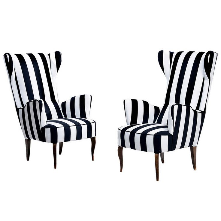 Pair of Italian Armchairs | From a unique collection of antique and modern armchairs at https://www.1stdibs.com/furniture/seating/armchairs/