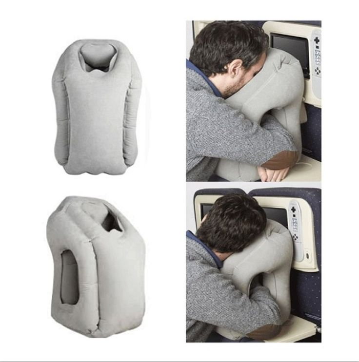 Inflatable Travel Pillow Multi-functional Air Cushion Camping Head Rest Portable Office Napping Pillow Airplane Sleep Air Pillow -- Unbelievable product right here! : Air Lounges