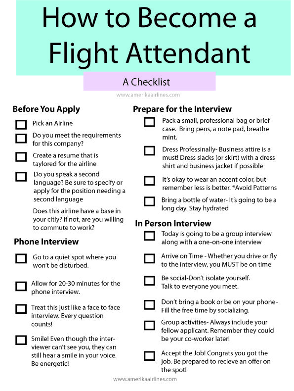 How to become a flight attendant.  Amerika airlines Www.amerikaairlines.com
