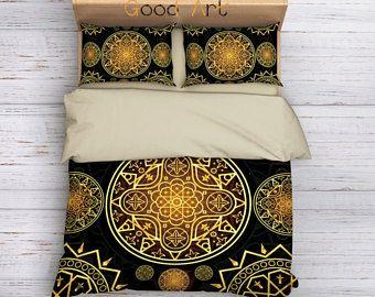 Sacred Mandala Bedding,Boho Duvet Cover,Hippie Bedding,Bohemian Bedding Set,Ethno Bedding Set,Mandala Duvet Cover,Indie Bedding