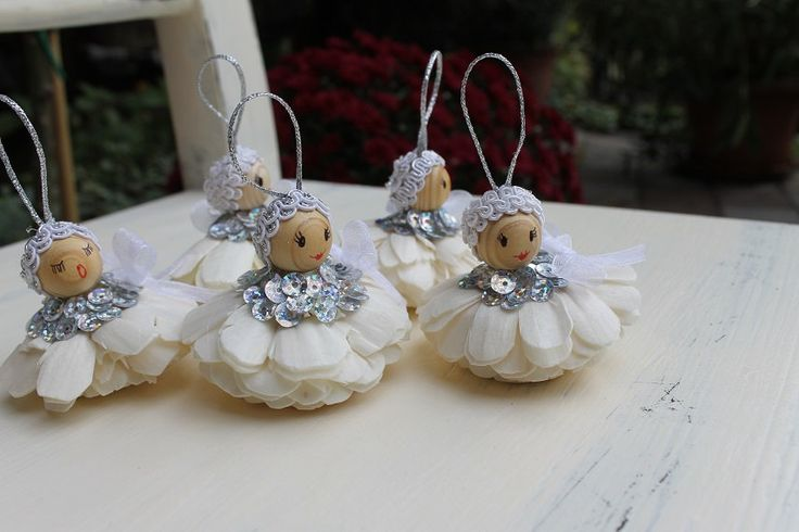 OrnamentsChristmas angelsHandmade angels Christmas hanging